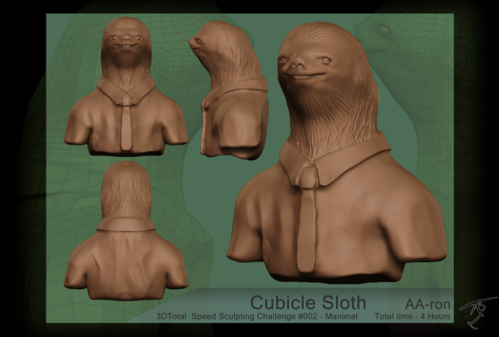 Cubicle Sloth - Digital sculpt