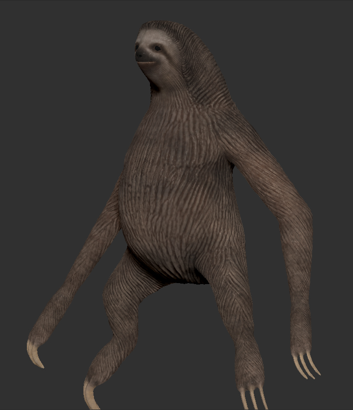 Tree Sloth sculpt